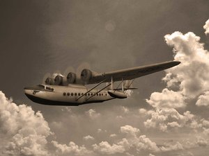 3d model flying clipper