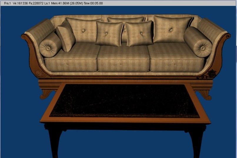 furnishing sofa 3d model