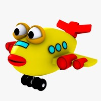 plane plane toy 3d model