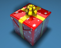 3d model of christmas present