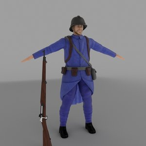 world war french 3d max