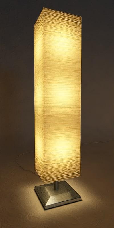 c4d paper lamp