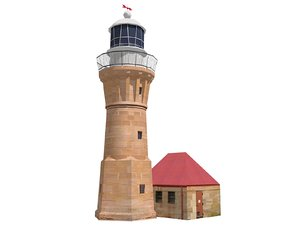 3d barranjoey lighthouse
