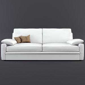 3d model realistic sofa biba salotti