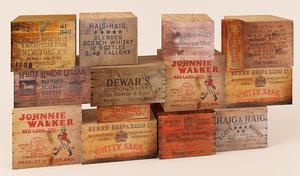 3d scotch whiskey boxes