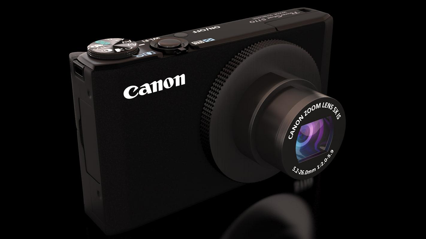 canon powershot s110 digital camera 3d model