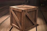3d model crate asset