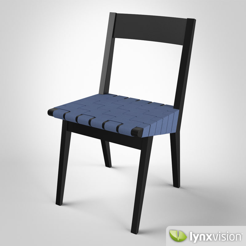 risom chair 3d model
