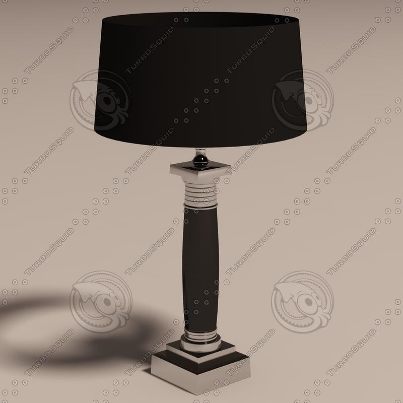 3d eichholtz lamp napoleon model