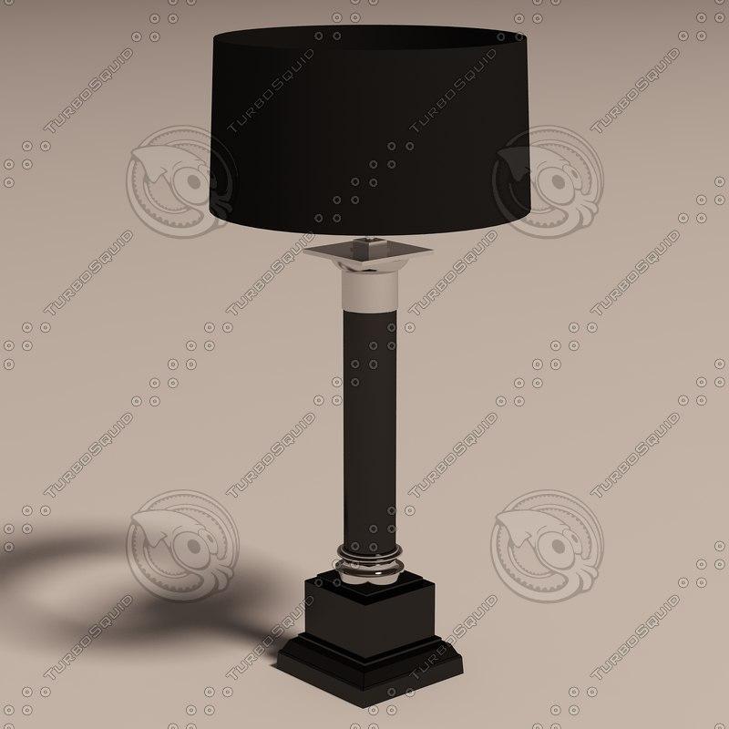 3d eichholtz lamp table monaco model