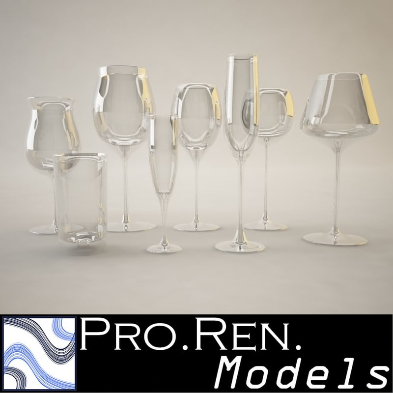 3d model glasses kitchens bars