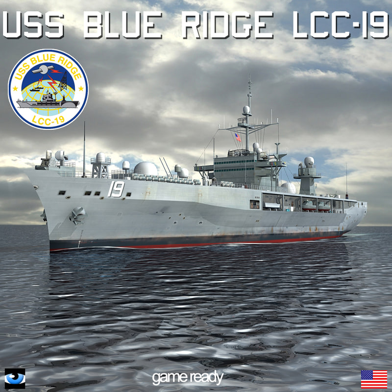 3d 3ds uss blue ridge lcc-19