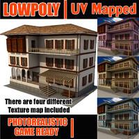 Lowpoly ottoman house LPBldX39
