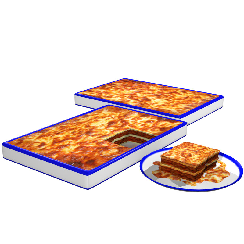 lasagna italian cooked 3d model