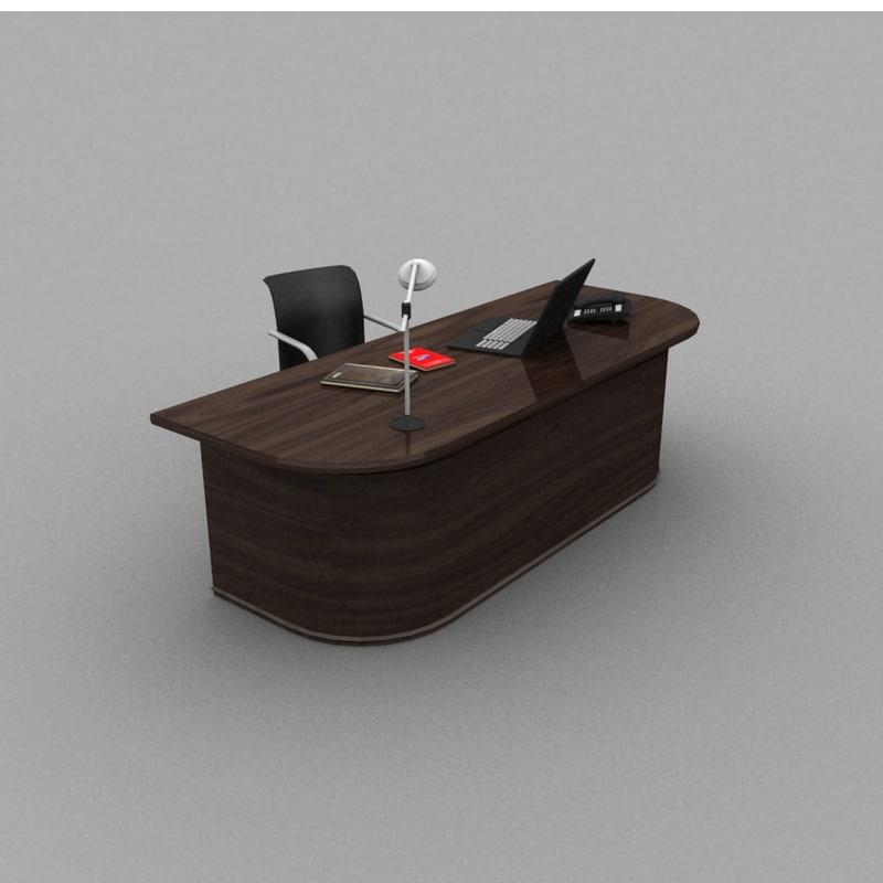 modern desk chair 3d model