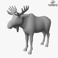 Low Poly Moose