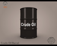 3d crude oil barrel