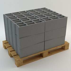 3ds max pallet breeze block