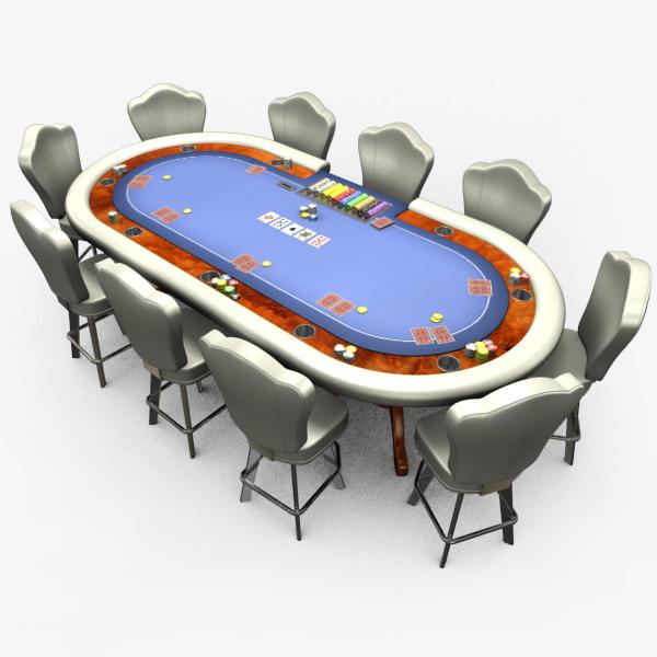 casino poker table - 3ds