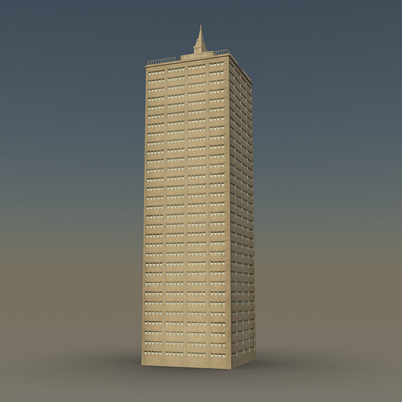 skyscraper 04 day night 3d model