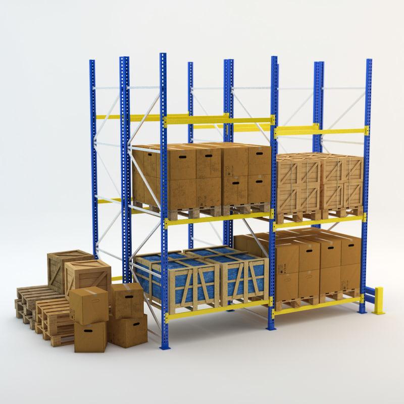 industrial crate box 3d model