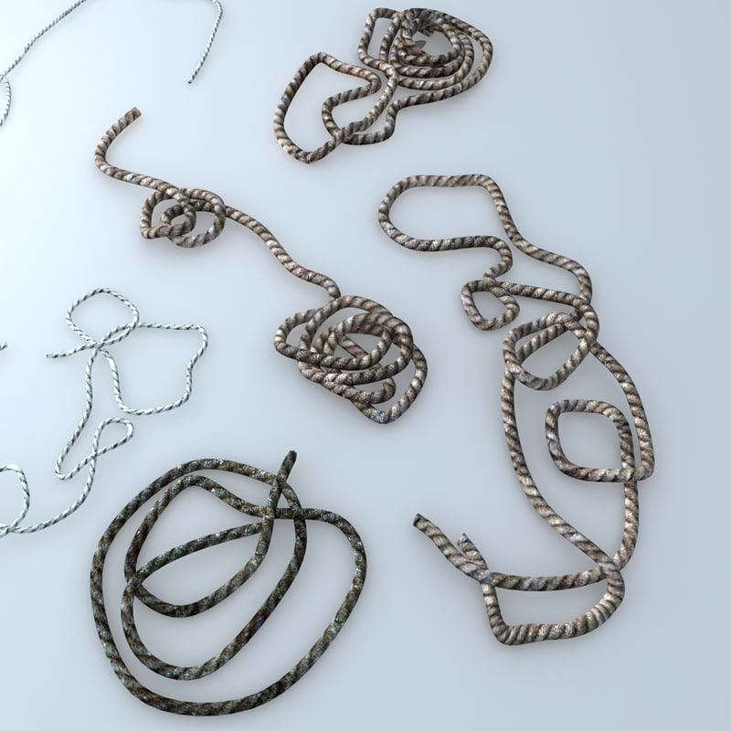 assorted ropes 3d model