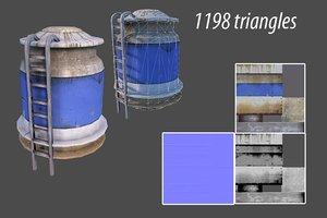 3d model water tank