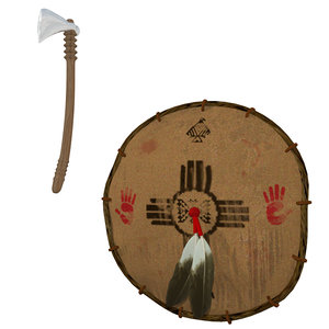 3d model native tomahawk shield