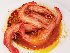 3d cooked shrimp