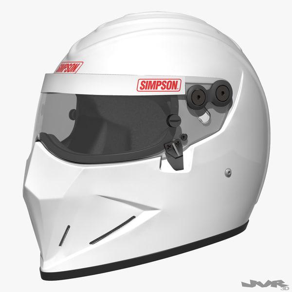 3d model simpson diamondback car helmet