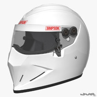 3d model simpson diamondback car helmet