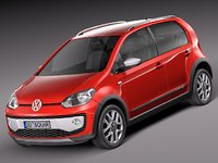 3d model of 2013 2014 volkswagen cross