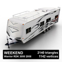 3d 2008 toy hauler semi-trailer model