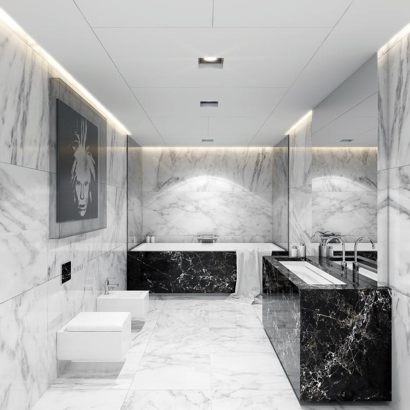 bathroom marble realistic max