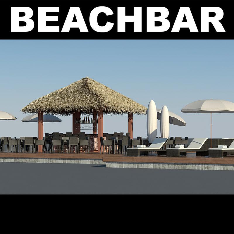 3d beachbar bar