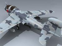 3d model navy prowler vaq-142