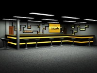 bar disco 3d model