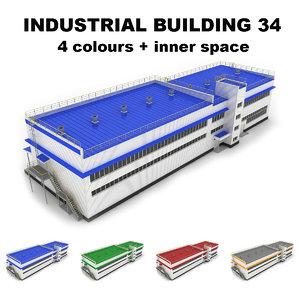 3d medium industrial building 34 model