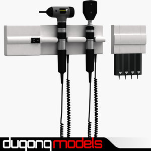 3d model dugm04 otoscope ophthalmoscope