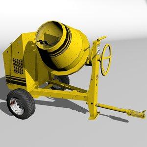3d model cement mixer