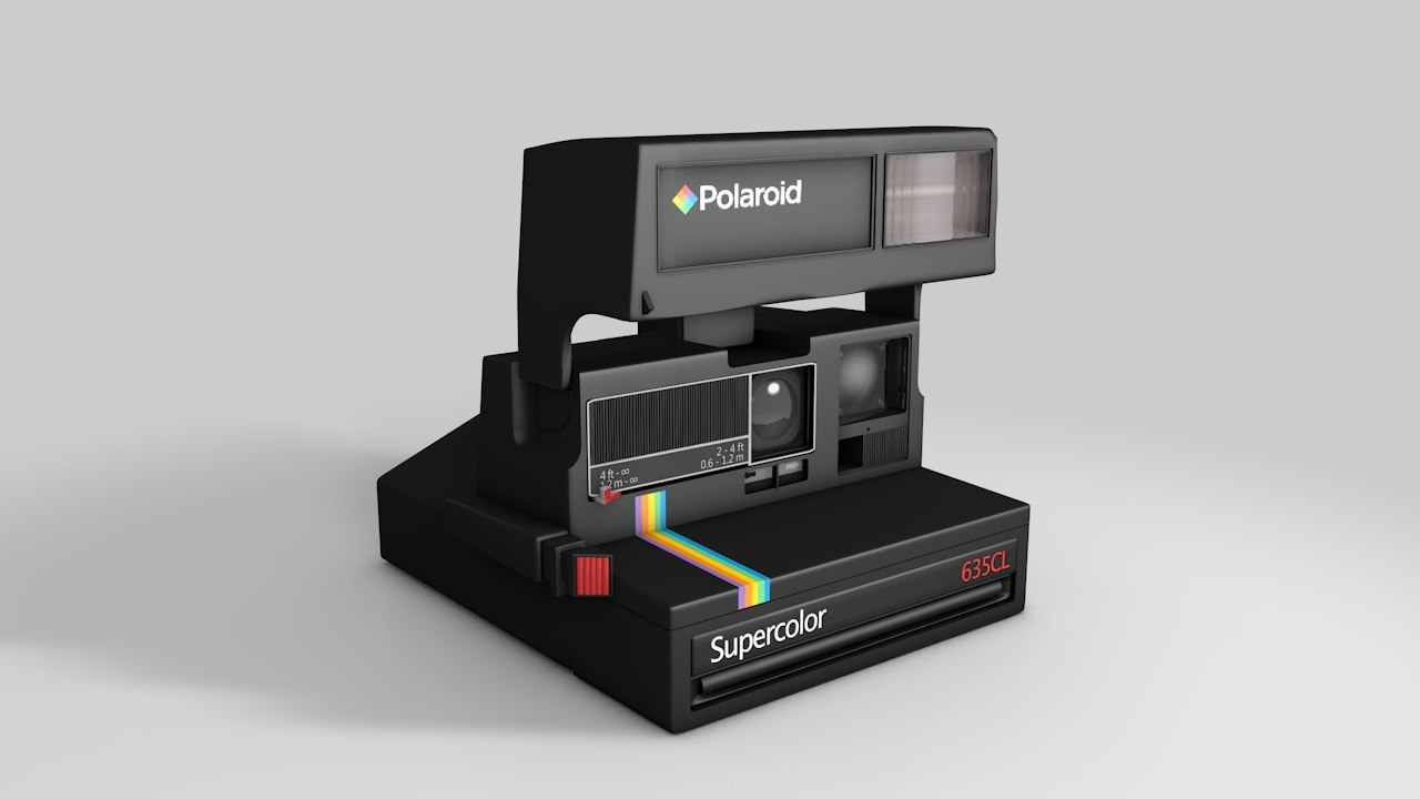 3d model polaroid supercolor 635cl 1