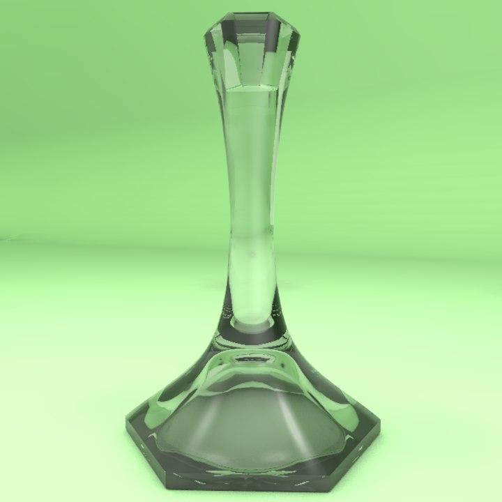 3d flower pot vase model