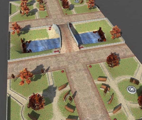 park autumn 3d 3ds