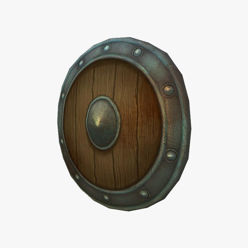 3d 3ds shield stylized