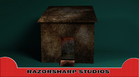 3d model haunted shack