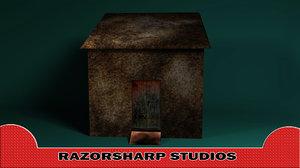 3d model haunted shack