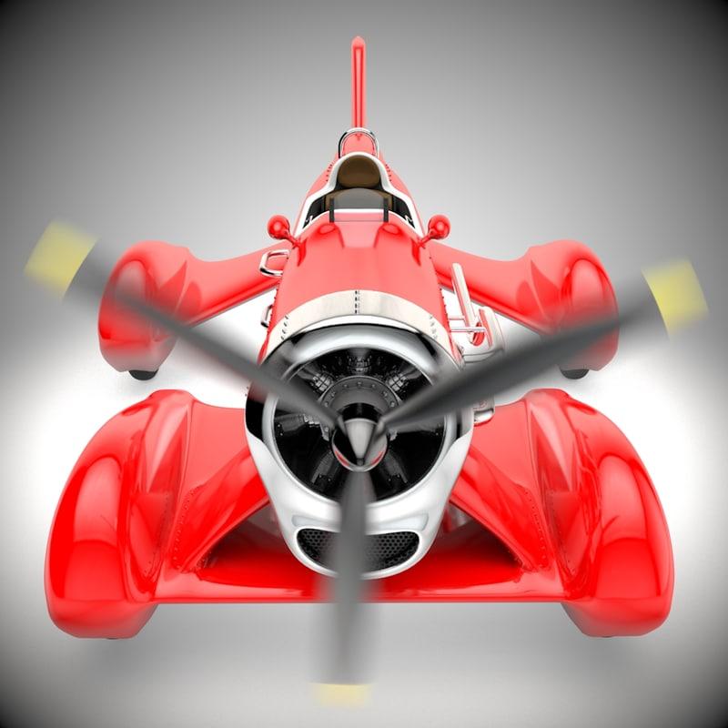 3d race car propeller model