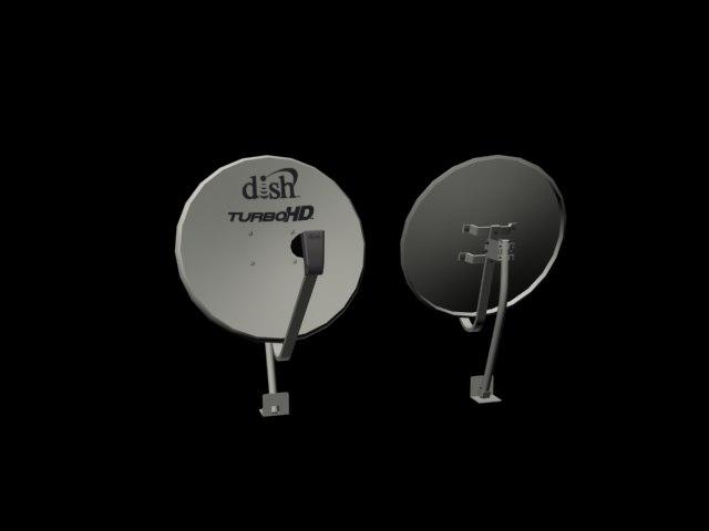 3ds max satellite dish