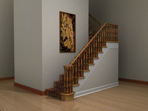 formal staircase 3d obj