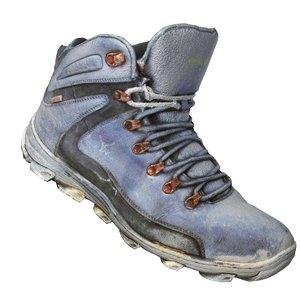 3d old shoes footwear model